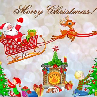 Merry Xmas Card - Obrázkek zdarma pro iPad 2