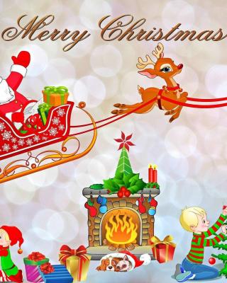 Merry Xmas Card - Obrázkek zdarma pro Nokia Asha 303