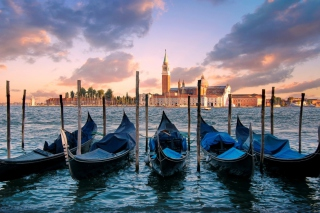 Venice Italy Gondolas Wallpaper for Android, iPhone and iPad