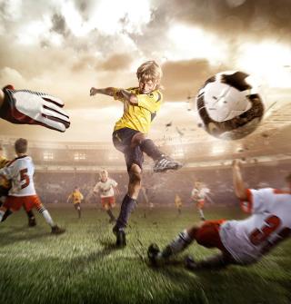 Football Goal - Obrázkek zdarma pro iPad Air