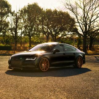 Audi A7 Sportback Vossen Black - Obrázkek zdarma pro iPad