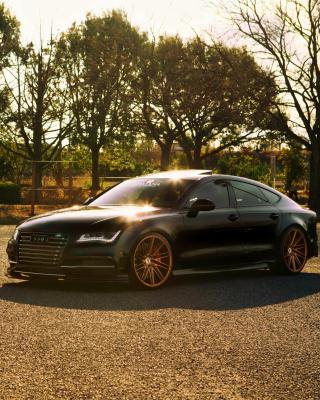 Audi A7 Sportback Vossen Black - Obrázkek zdarma pro iPhone 4