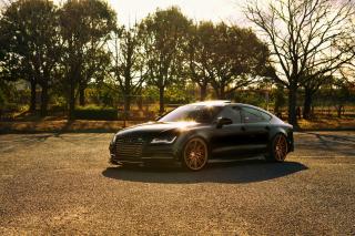 Audi A7 Sportback Vossen Black - Obrázkek zdarma pro Android 640x480