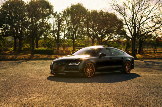 Audi A7 Sportback Vossen Black - Obrázkek zdarma pro Samsung Galaxy S 4G