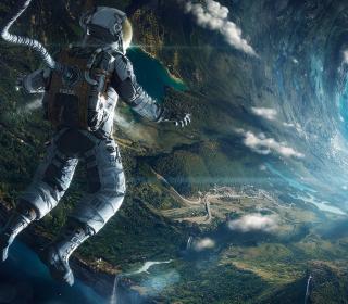 Astronaut In Space - Obrázkek zdarma pro iPad