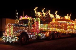 Xmas Truck in Lights - Obrázkek zdarma pro Android 540x960
