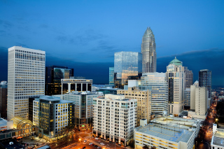 Charlotte Cityscape Background for Android, iPhone and iPad