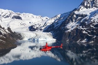 Red Helicopter Background for Android, iPhone and iPad