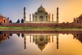 Taj Mahal India Picture for Android, iPhone and iPad