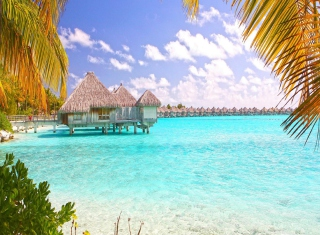 Blue Lagoon Island - Bahamas Background for Android, iPhone and iPad