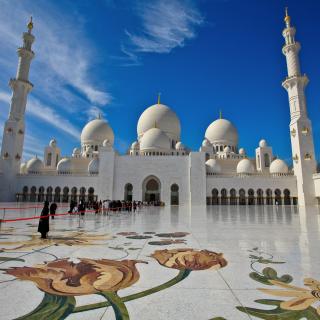 Sheikh Zayed Mosque located in Abu Dhabi - Obrázkek zdarma pro iPad 2