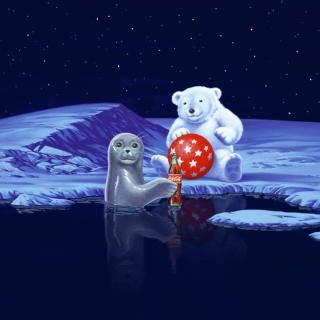 Seal Bear And Cola - Obrázkek zdarma pro 2048x2048