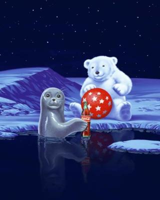Seal Bear And Cola - Obrázkek zdarma pro 352x416