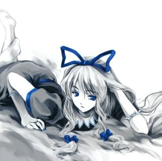 Anime Sleeping Girl - Obrázkek zdarma pro iPad Air