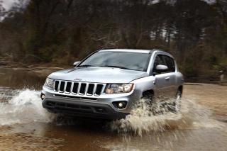 2012 Jeep Compass Silver - Obrázkek zdarma pro Samsung Galaxy A3