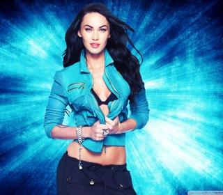 Megan Fox Blue - Obrázkek zdarma pro iPad Air
