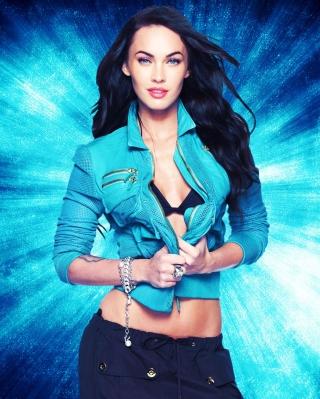 Megan Fox Blue - Obrázkek zdarma pro Nokia Asha 203