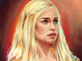 Emilia Clarke Game Of Thrones Painting Picture for Android, iPhone and iPad