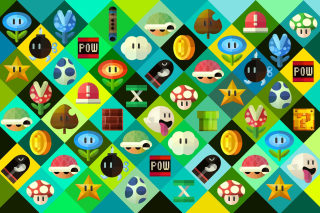 Super Mario power ups Abilities in Nintendo Background for Android, iPhone and iPad