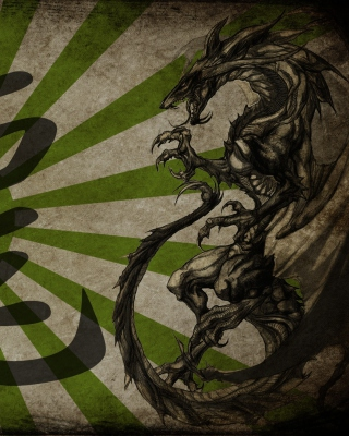 Dragon Kanji or Taito in Japanese - Obrázkek zdarma pro 176x220