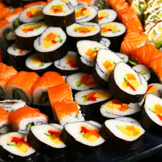 Japanese Sushi Rolls - Obrázkek zdarma pro 1024x1024