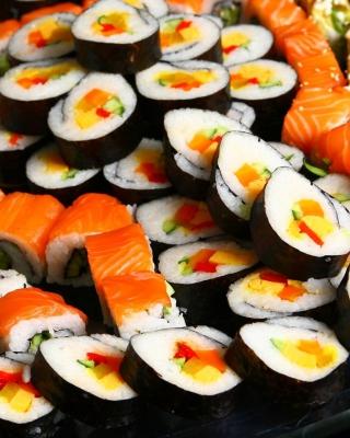 Japanese Sushi Rolls - Obrázkek zdarma pro 360x640