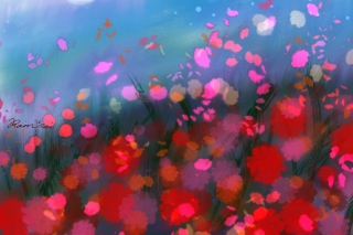 Flower Abstract Painting Background for Android, iPhone and iPad