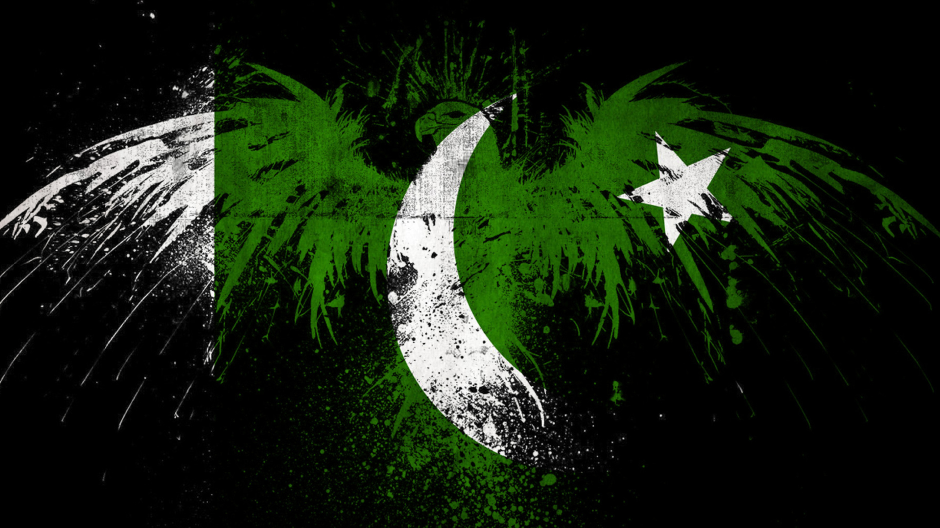 Screenshot №1 pro téma Pakistan Flag 1920x1080