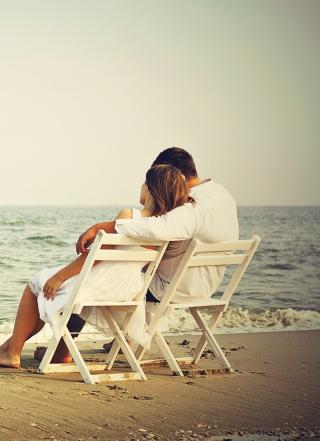 Romantic Beach - Obrázkek zdarma pro Nokia Asha 309