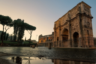 Colosseum ancient architecture Picture for Android, iPhone and iPad
