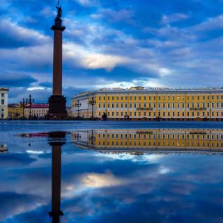 Saint Petersburg, Winter Palace, Alexander Column - Obrázkek zdarma pro 208x208