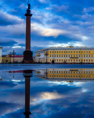 Saint Petersburg, Winter Palace, Alexander Column - Obrázkek zdarma pro 352x416