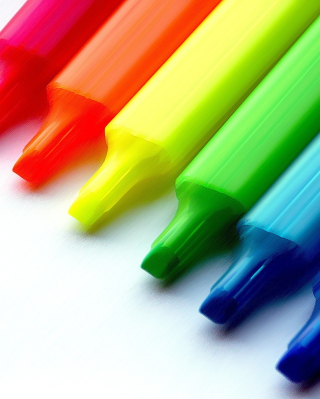 Colorful Pens - Obrázkek zdarma pro Nokia Asha 308