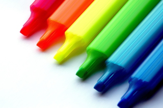 Colorful Pens Background for Android, iPhone and iPad