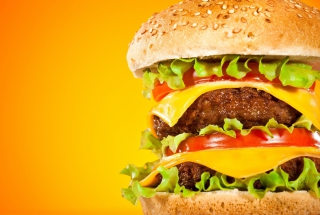Double Cheeseburger Background for Android, iPhone and iPad