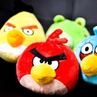 Plush Angry Birds - Obrázkek zdarma pro iPad