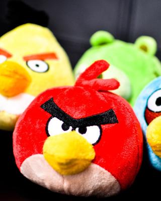 Plush Angry Birds - Obrázkek zdarma pro Nokia Asha 303