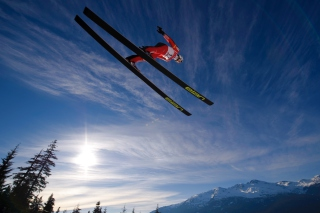 Skiing Jump Background for Android, iPhone and iPad