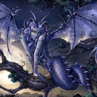 Vamp Devil Dragongirl - Obrázkek zdarma pro iPad mini