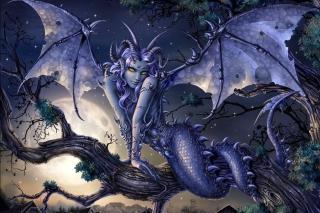 Vamp Devil Dragongirl - Obrázkek zdarma pro Samsung Google Nexus S 4G