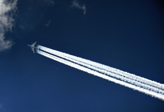 Airplane In Sky Picture for Android, iPhone and iPad