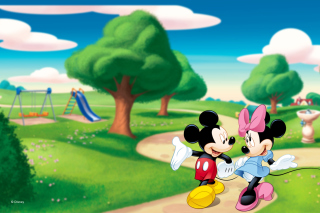 Free Mickey And Minnie Picture for Android, iPhone and iPad