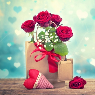 Send Valentines Day Roses - Obrázkek zdarma pro iPad
