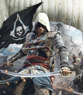 Assassins Creed 4 Black Flag Game - Obrázkek zdarma pro Nokia C-Series
