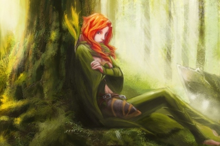 Forest Girl Wallpaper for Android, iPhone and iPad