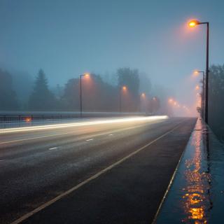 Road in Fog - Obrázkek zdarma pro iPad mini