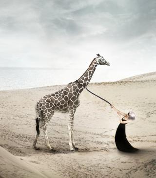 Girl And Giraffe - Obrázkek zdarma pro Nokia C7