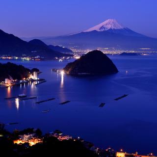 Night Fuji - Obrázkek zdarma pro 1024x1024