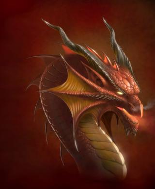 Dragon Head - Obrázkek zdarma pro 128x160