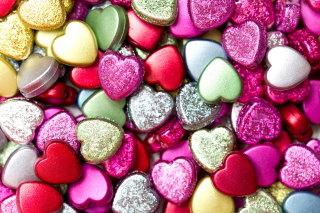 Heart shaped Pebbles Wallpaper for Nokia Asha 200